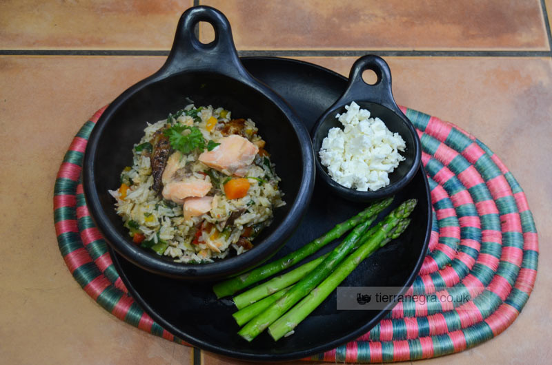 All-in-one Brown Rice with Fish and Vegetables